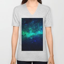 Bright Nebula Unisex V-Neck