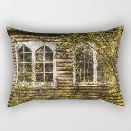 Overgrown Windows Rectangular Pillow