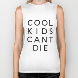 Cool Kids Cant Die Crop Top Tank Tumblr Cropped Can't music T-Shirts Biker Tank