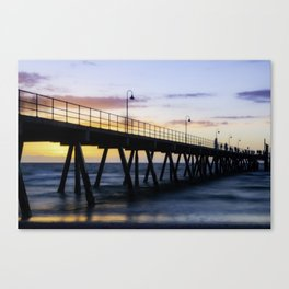 Sunset at the Jetty  Canvas Print