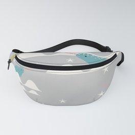 narwhal in ocean grey Fanny Pack