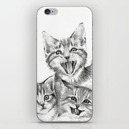 Kittens Pattern Cute Meowing Cats iPhone Skin