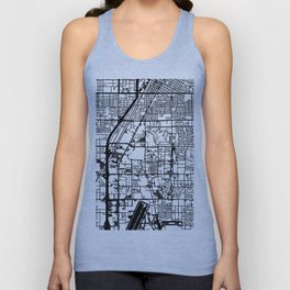 Las Vegas city map Unisex Tank Top