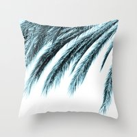 palm tree Throw Pillows featuring palm by Sweet Karalina