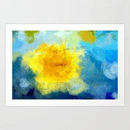 Sun And Flowers Adorn We Art Print