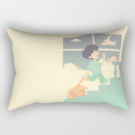 Sleepy boy Rectangular Pillow