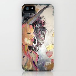 Black Unicorn: Sugar Oompa Loompa iPhone Case