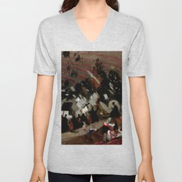 """John Singer Sargent """"Rehearsal of the Pasdeloup Orchestra at the Cirque"""" Unisex V-Neck"""