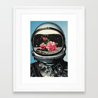 spring Framed Art Prints featuring Spring Crop at the Rosseland Crater by Eugenia Loli