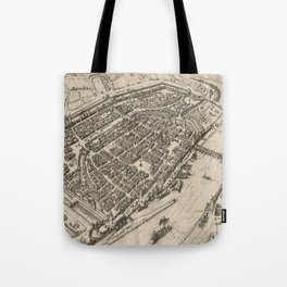 Vintage Pictorial Map of Frankfurt Germany (1575) Tote Bag
