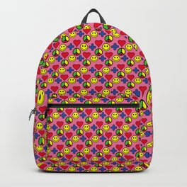Positivity Peace Joy Happiness PINK Backpack