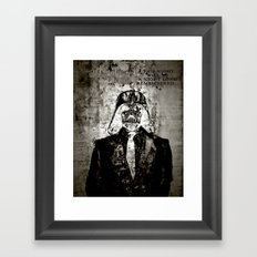 Unreal Party Darth Vader Framed Art Print
