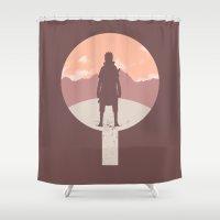 sasuke Shower Curtains featuring Crest of Revenge [Naruto] by Ruwah