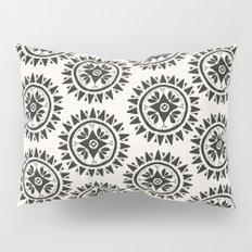 Bohemian Medallions - Dark gray and cream Pattern Pillow Sham