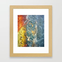 Colorful Abstract Texture Framed Art Print
