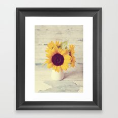 Sunflower Love  Framed Art Print