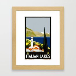 Vintage travel poster - Italian Lakes Framed Art Print