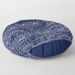 Christmas city Floor Pillow