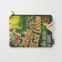 Creature from the Black Lagoon, vintage horror movie poster Carry-All Pouch