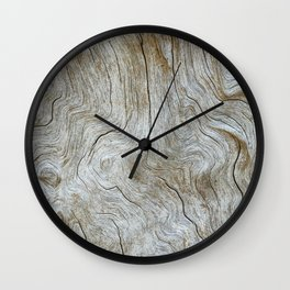 The Worn Wood Wall Clock