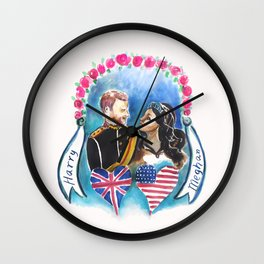 Meghan loves Harry Wall Clock