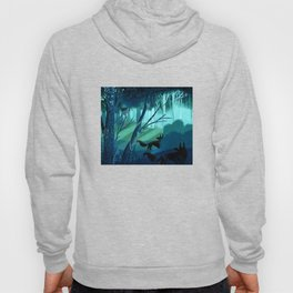 Shadow Wolves Stalk The Silver Wood Hoody