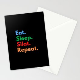 Eat. Sleep. Silat. Repeat. Stationery Cards