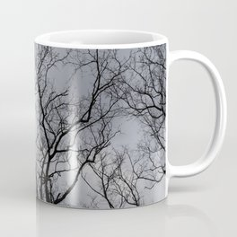 Black naked trees, creepy forest Coffee Mug