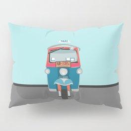 Thailand Tuk Tuk Taxi Travel Poster Pillow Sham