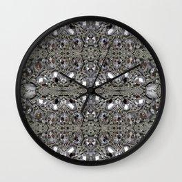 girly chic glitter sparkle rhinestone silver crystal Wall Clock