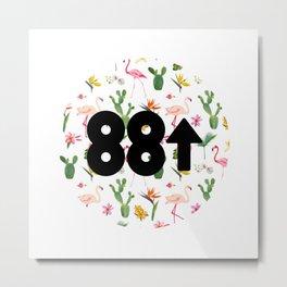 88rising Floral Metal Print