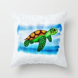WaterTurtle Throw Pillow