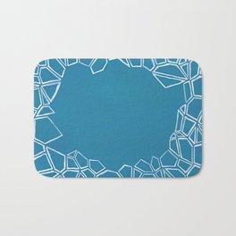 Fractal Glacier Negative Space Bath Mat