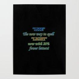 Funny One-Liner Spelling Joke Poster