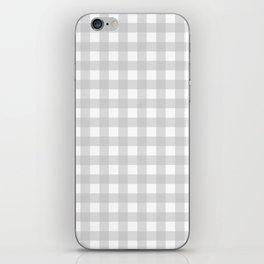Light grey gingham pattern iPhone Skin