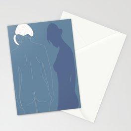 Minimal feminine figure Stationery Cards