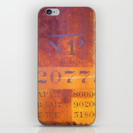 Freight-car detail iPhone Skin