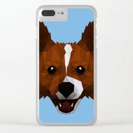 Geometric Spitz Clear iPhone Case