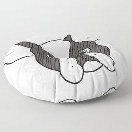 Grumpy Boston Terrier Floor Pillow