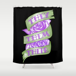 They/Them/Their Shower Curtain