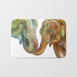 Mommy and Baby Elephant Bath Mat