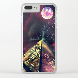 Three Red Sisters Galaxy  Spray Painting Clear iPhone Case