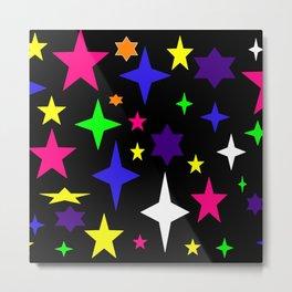 Colorful Atomic Stars Metal Print
