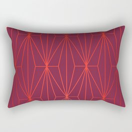 ELEGANT BEED RED TANGERINE  PATTERN Rectangular Pillow