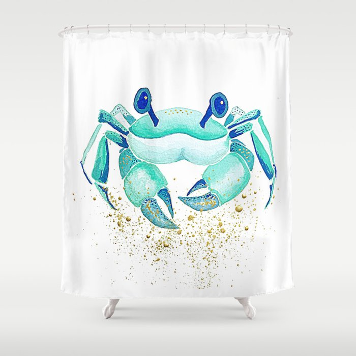 Neptunes Crab Shower Curtain