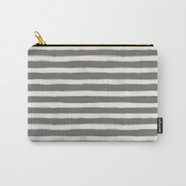 geo brush stripe large-sage Carry-All Pouch