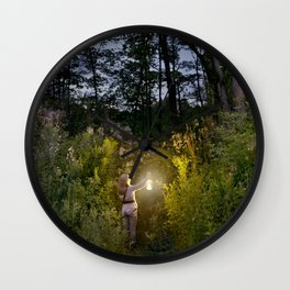 Entering the Forest Wall Clock