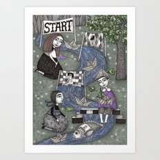 The Boat Race Art Print