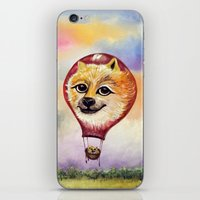 doge iPhone & iPod Skins featuring Wonderful Journey of Doge by anaxjor