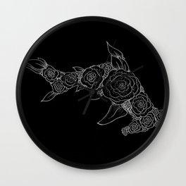 Midnight Rose Hammerhead Wall Clock